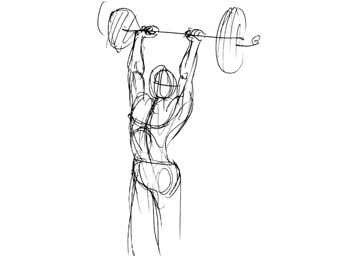 sketch of a barbell
