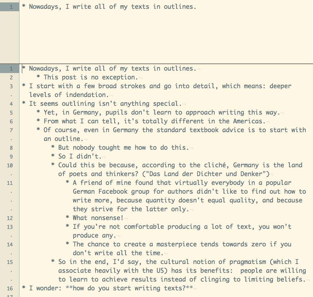 screenshot of my outline in TextMate