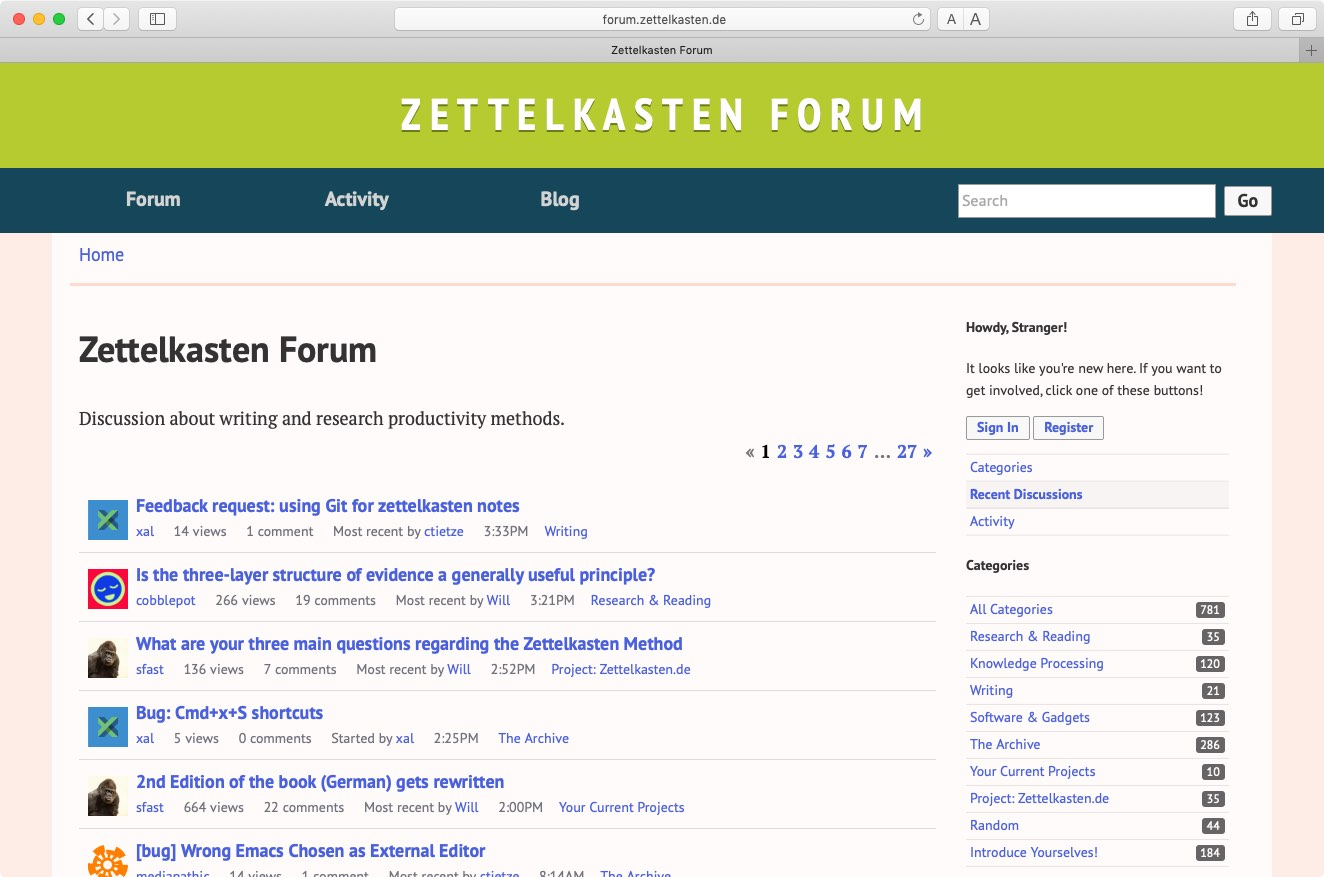 screenshot of the forum