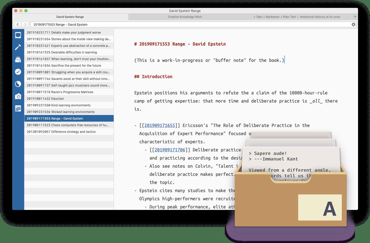 The Archive (macOS) • Zettelkasten Method